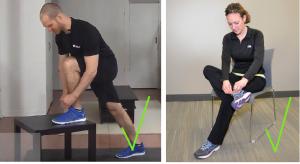 atarse los zapatos postura