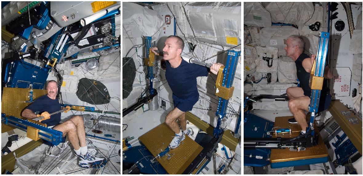 astronautas ejercicio